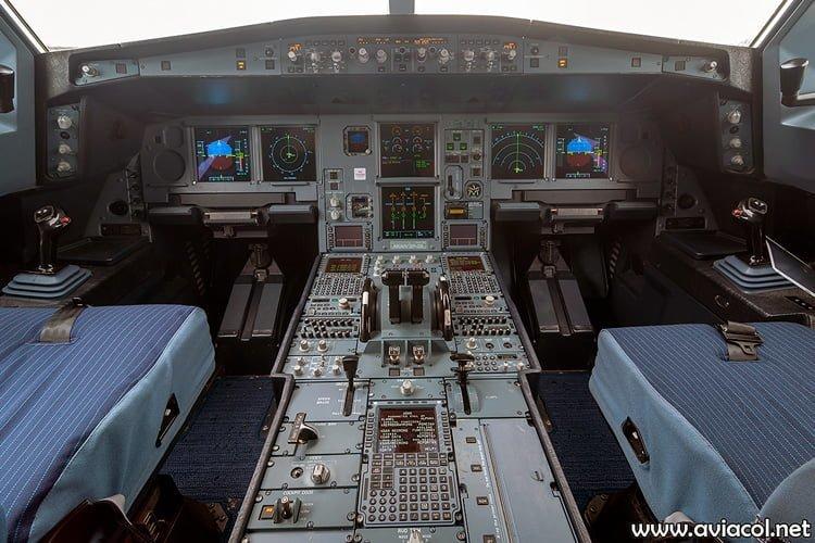 Cabina del nuevo Airbus A330-300 de Avianca.