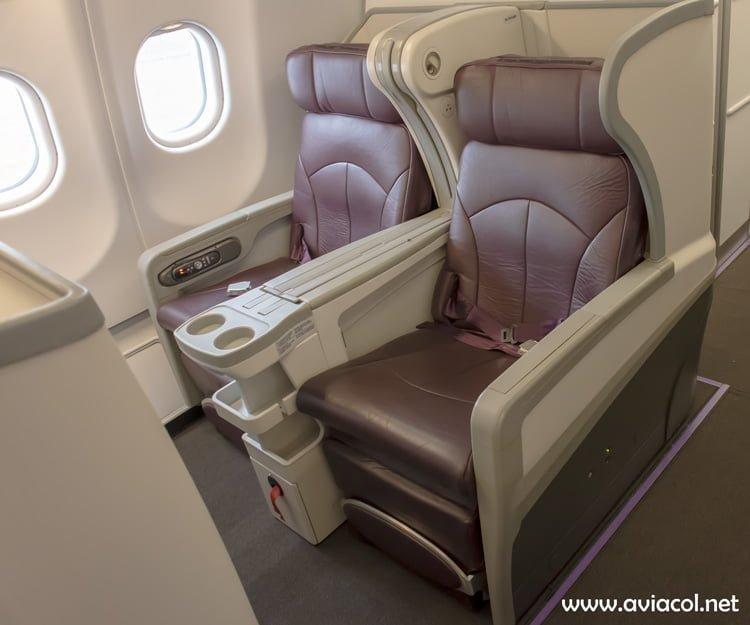 Silla de Clase Ejecutiva del nuevo Airbus A330-300 de Avianca.