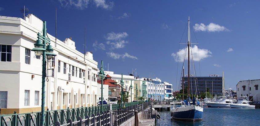 Vista de Bridgetown, Barbados.