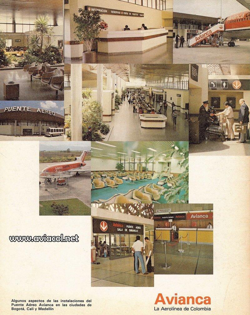 Publicidad del Terminal Puente Aéreo de Avianca en 1982.