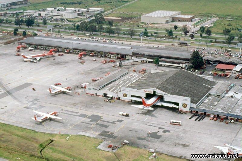 Terminal Puente Aéreo de Avianca en 1997.