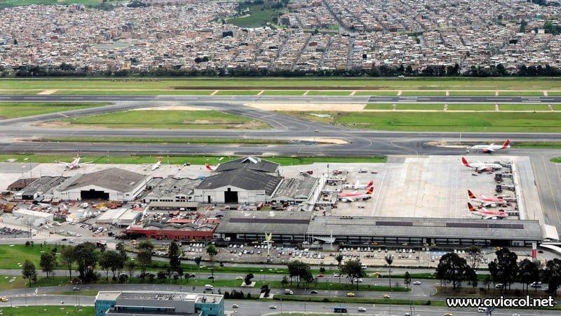 Vista aérea del Puente Aéreo de Avianca en 2016.