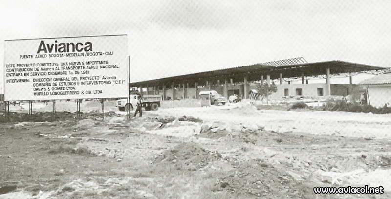 Construcción del Terminal Puente Aéreo de Avianca.