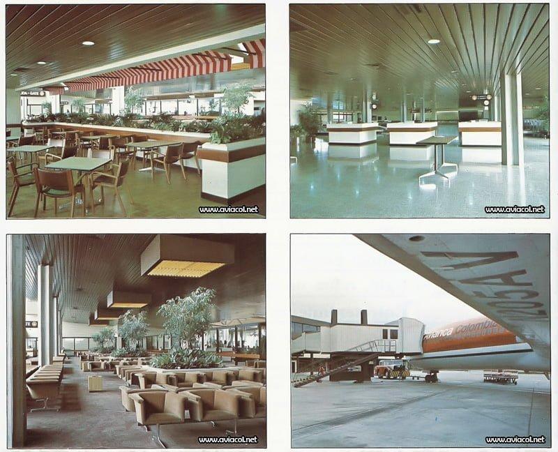Interior del Terminal Puente Aéreo de Avianca en Bogotá.