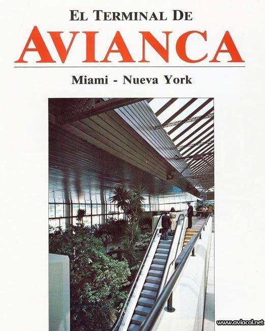 Publicidad de la operación internacional desde el Puente Aéreo de Avianca.