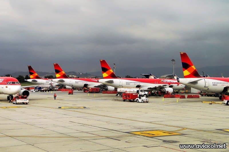 Puente Aéreo de Avianca con la nueva flota Airbus de la aerolínea.