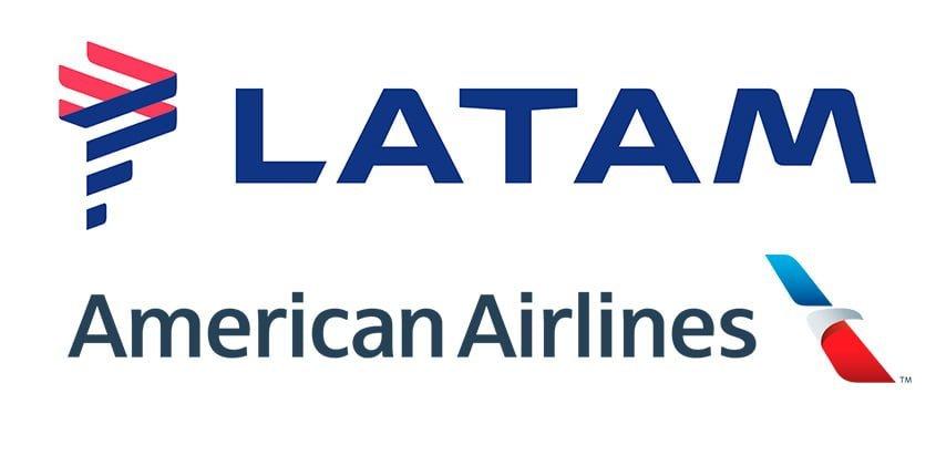 Logos de American Airlines y LATAM Airlines.