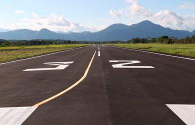 Vista de la pista de San Vicente del Caguán, Caquetá.