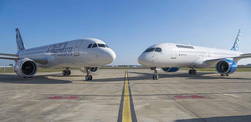 Airbus A320neo y Bombardier C Series, nueva alianza.