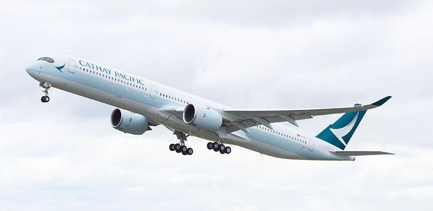 Airbus A350-1000 de Cathay Pacific de Hong Kong.