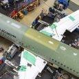 Primer Airbus ACJ320neo en línea de ensamblaje final.