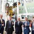 Inauguración de la cuarta línea de producción del Airbus A320 en Hamburgo.