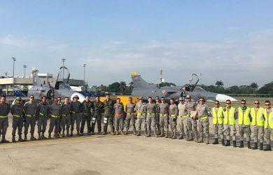 Tripulaciones de Kfir preparadas para Fighter Drag antes de Red Flag 2018.