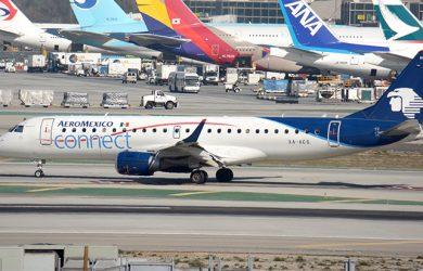 Embraer E190 de Aeroméxico como el que se accidentó en Durango.