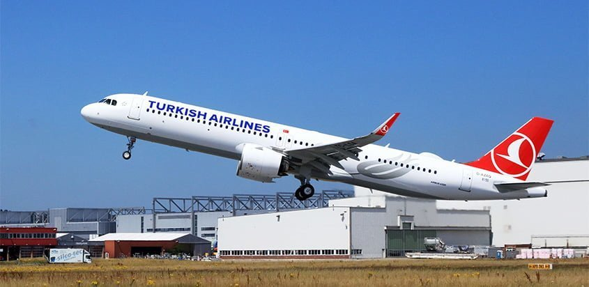 Airbus A321neo de Turkish Airlines.
