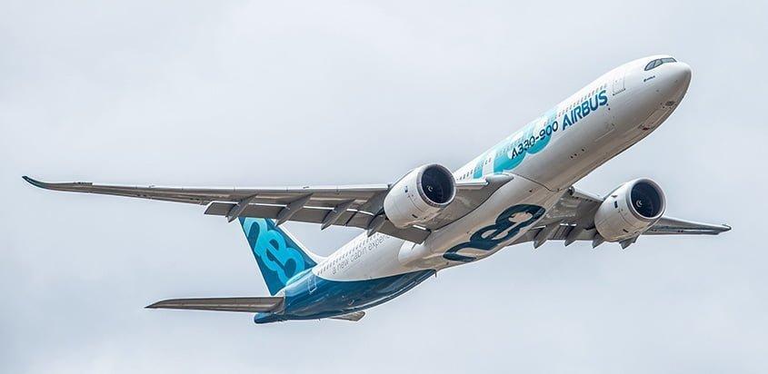 Airbus A330neo equipado con motores Rolls-Royce Trent 7000.