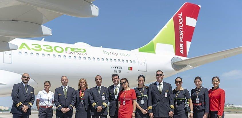 Airbus A330neo de TAP en su tour por América.