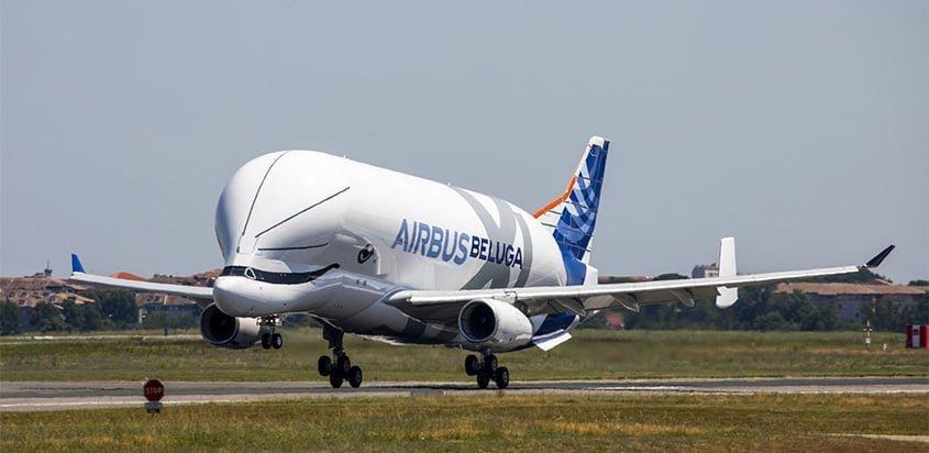 El primer Airbus Beluga XL realizó su primer vuelo.