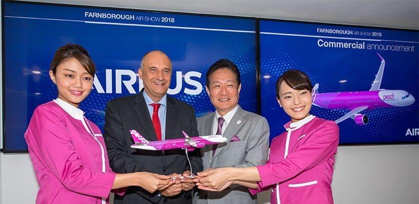 Peach Aviation ordena el Airbus A321LR.