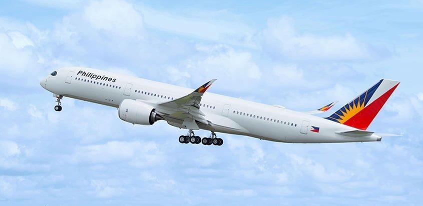 Primer Airbus A350 de Philippine Airlines.