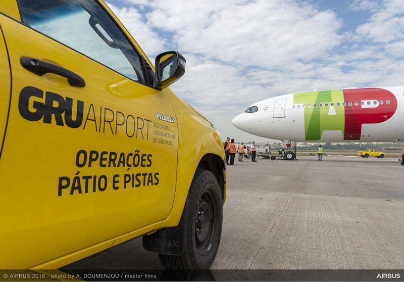 Tour del Airbus A330neo en São Paulo, Brasil.