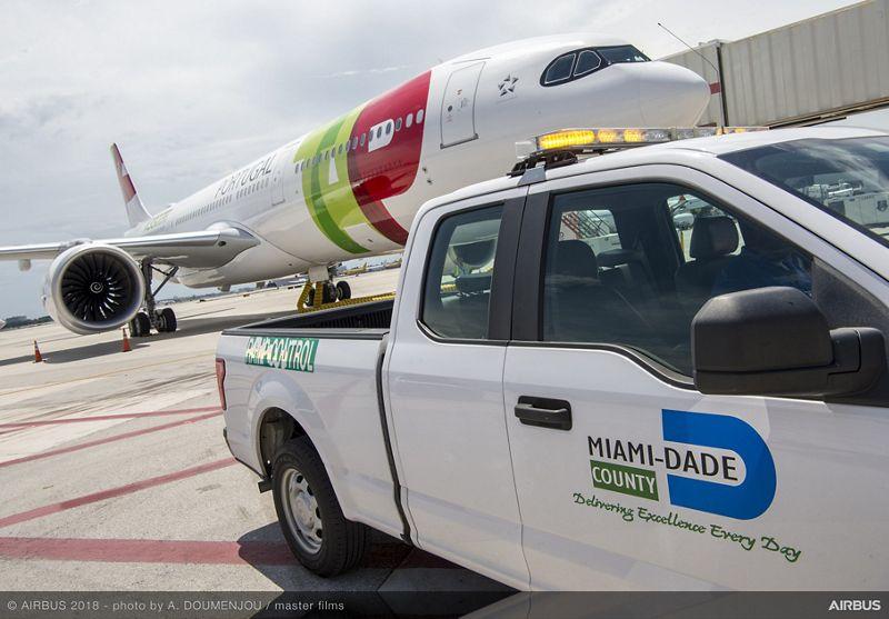 Tour del Airbus A330neo en Miami, Estados Unidos.