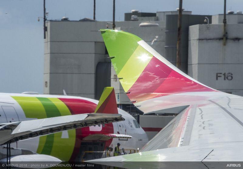 Tour del Airbus A330neo en Lisboa.