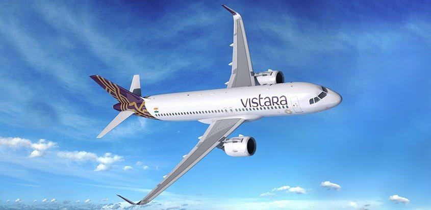 Airbus A320neo de VISTARA.