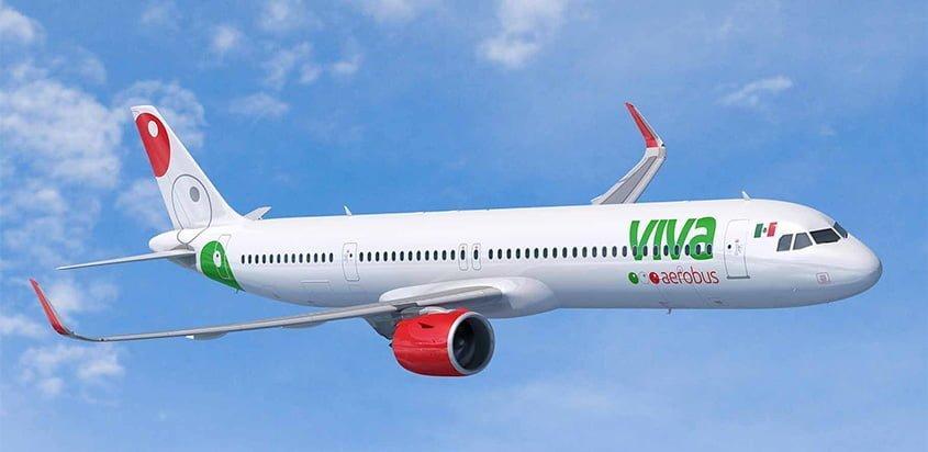 Airbus A321neo de Viva Aerobus.