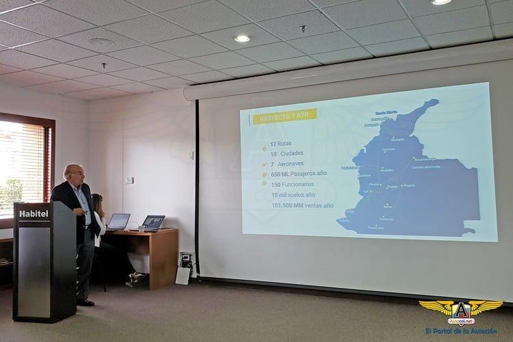 Alfonso Ávila, Presidente Easyfly, expone el plan de expansión de la aerolínea.