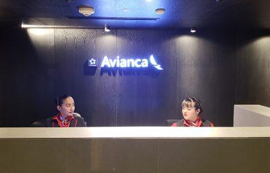 Sala VIP Diamond de Avianca en Bogotá.