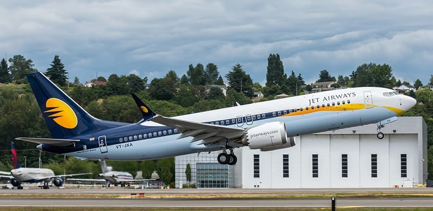 Boeing 737 MAX de Jet Airways.