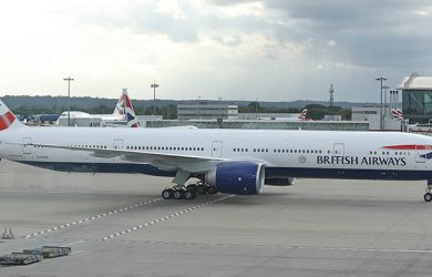 Boeing 777-300ER de British Airways.