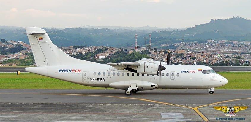 ATR 42-500 de Easyfly en el Aeropuerto Matecaña de Pereira.