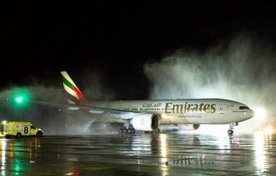 Vuelo inaugural de Emirates a Santiago de Chile en Boeing 777-200ER.