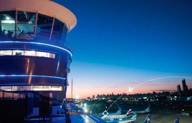 Torre de Control de un Aeropuerto de Buenos Aires, Argentina.