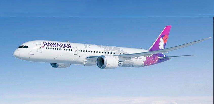 Prototipo de un Boeing 787-9 de Hawaiian Airlines.