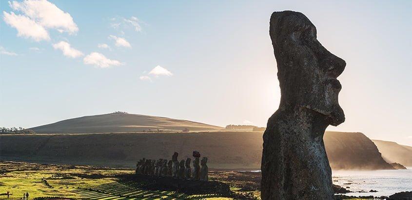 Moai de la Isla de Pascua.