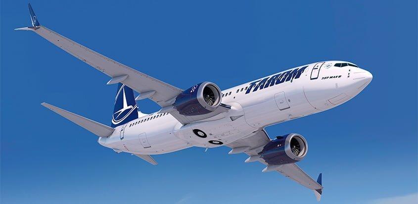 Boeing 737 MAX de TAROM.