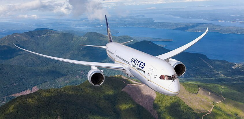 Boeing 787-9 de United Airlines.