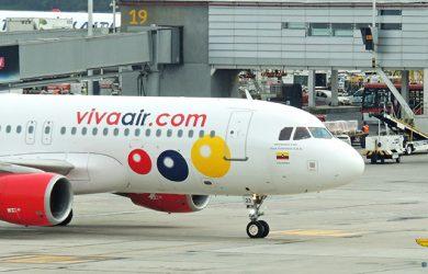 Airbus A320 de Viva Air Colombia en Bogotá.