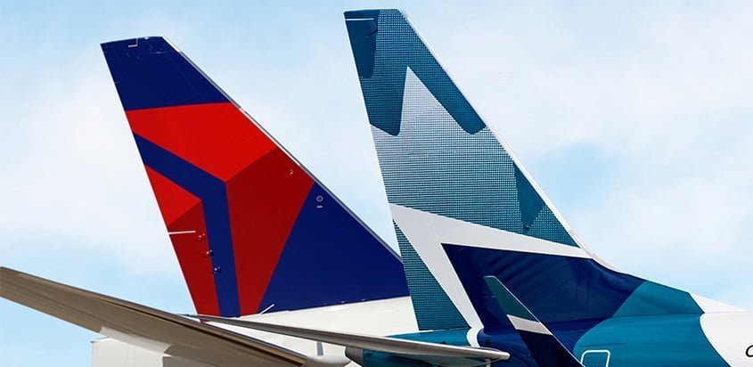 Empenajes de Delta y WestJet.
