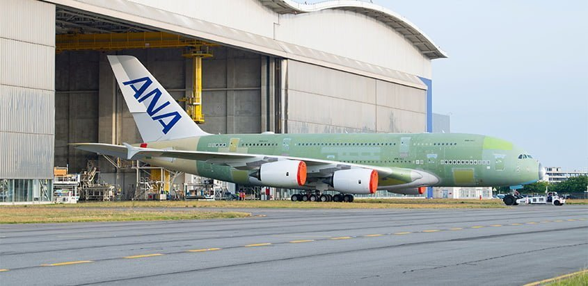 Primer Airbus A380 de All Nippon Airways.