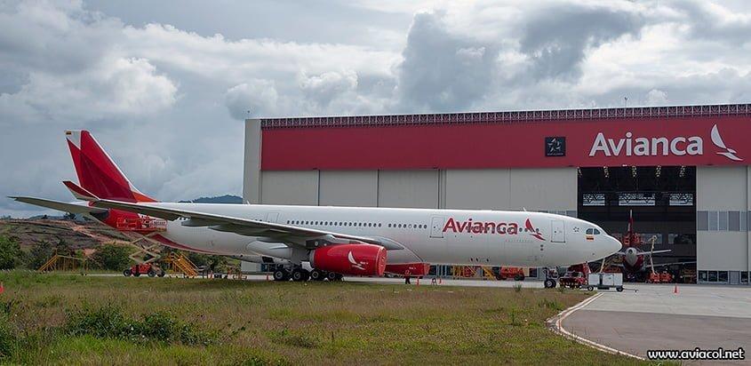Airbus A330-300 de Avianca en el MRO de Rionegro.