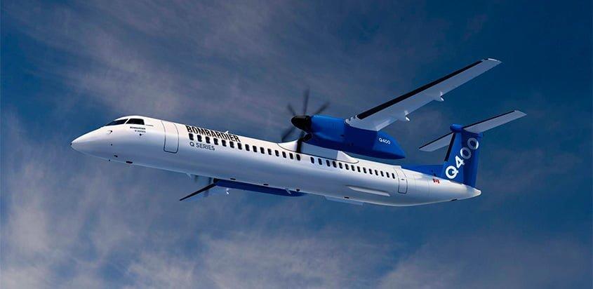 Bombardier Q400 con capacidad para 90 pasajeros.