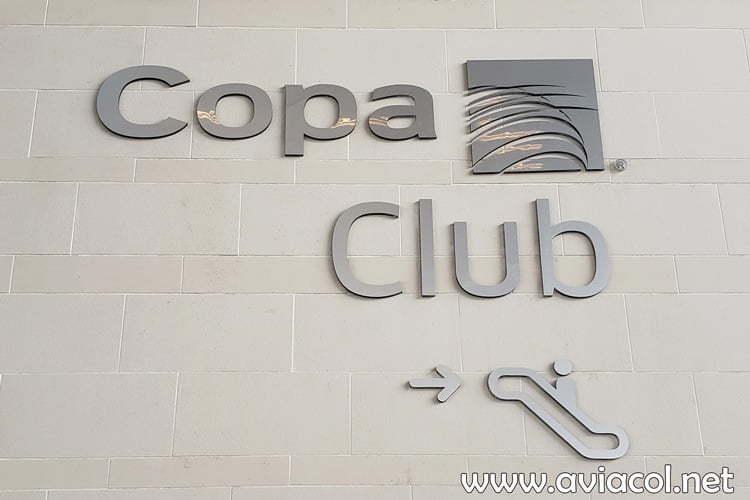 Exterior del Copa Club, de Copa Airlines, en Bogotá.