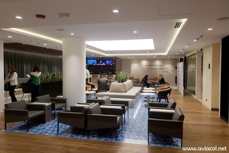 Lounge del Copa Club, de Copa Airlines, en Bogotá.