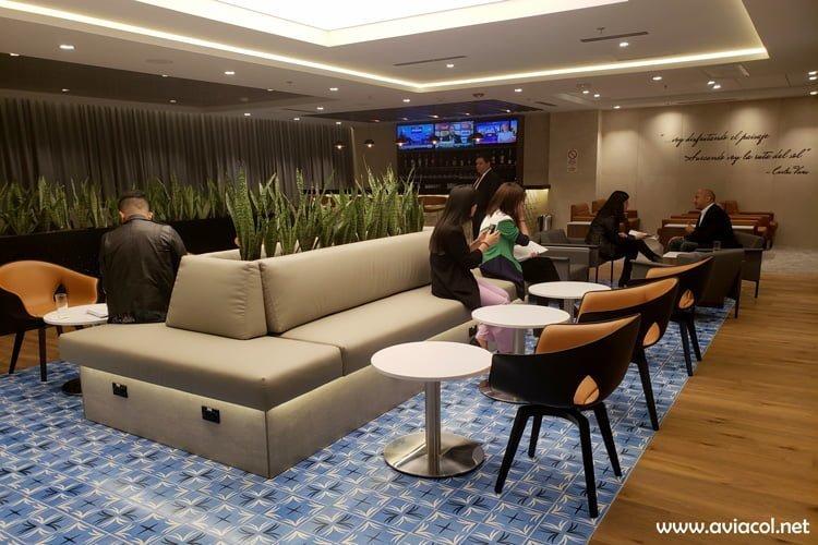 Lounge del Copa Club en Bogotá.