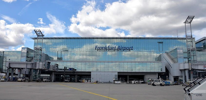 Terminal del Aeropuerto Internacional de Fráncfort.