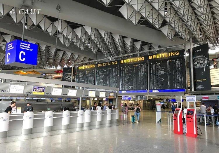 Concourse C de la Terminal 1 del Aeropuerto de Frankfurt.